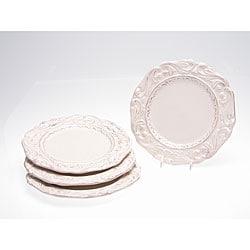 Certified International Firenze Ivory 9.5-inch Salad Plate (Set of 4)