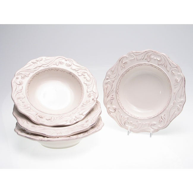 Certified International Firenze Ivory 9.75-inch Soup Bowls (Set of 4)