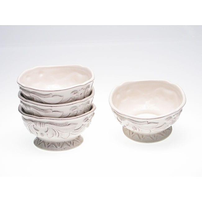 Certified International Firenze Ivory 6-inch Ice Cream Bowls (Set of 4)