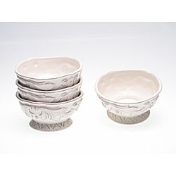 Certified International Firenze Ivory 6-inch Ice Cream Bowls (Set of 4)