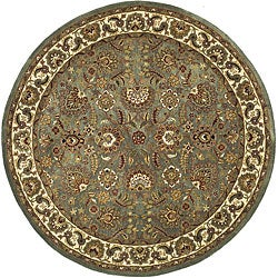 Safavieh Handmade Classic Heirloom Light Blue Wool Rug (8' Round)