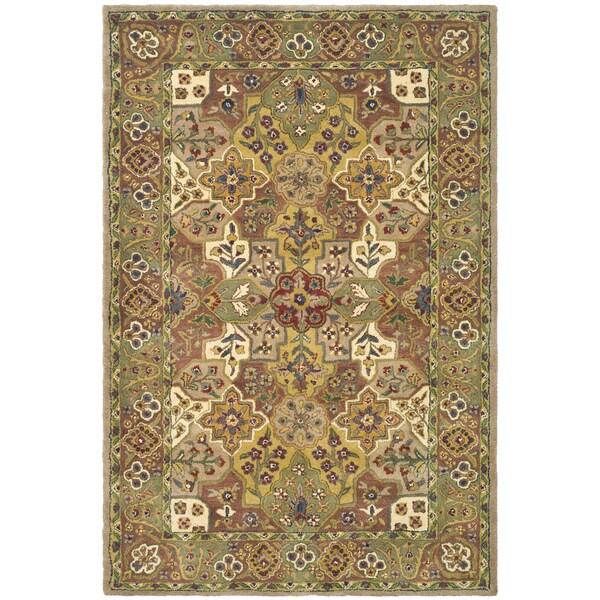 Safavieh Handmade Heritage Multicolor/ Plum Wool Rug (5' x 7'6)