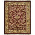Handmade Jaipurs Red/ Gold Wool Rug (8' x 10')