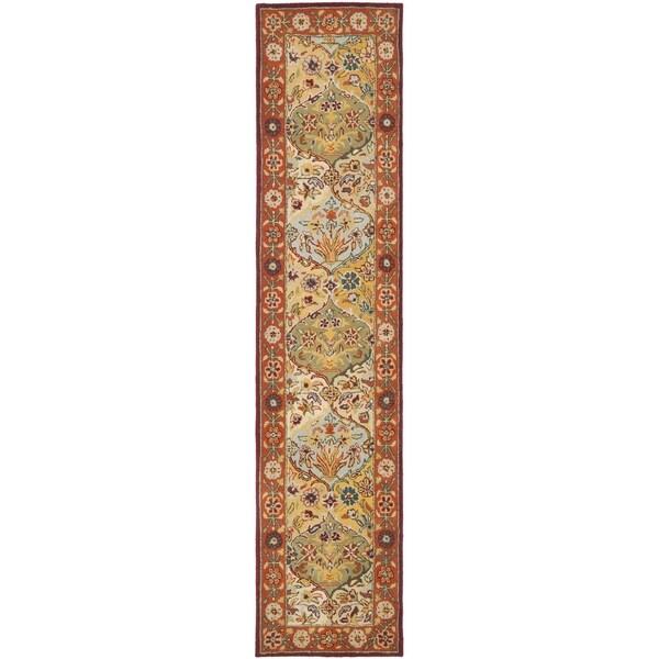 Safavieh Handmade Heritage Bakhtiari Multi/ Red Oriental Wool Runner (2'3 x 4')