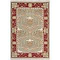 Nourison Samarkand Flatweave Reversible Olive Wool Rug (8'6 x 11'6)