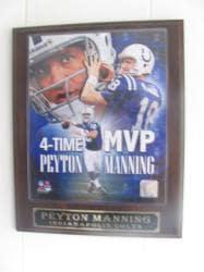 Peyton Manning 4-time MVP Collectible Plaque