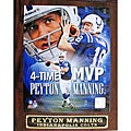Peyton Manning 4-time MVP Collectible Plaque