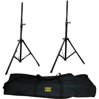Pyle PSTK103 Heavy-Duty Anodizing Dual Speaker Stand with Traveling B