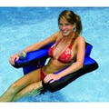 Swimline Inflatable Fabric-covered U-seat with Backrest and Dual Cup Holders