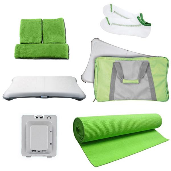 8 in 1 Bundle for Nintendo Wii Fit- Green