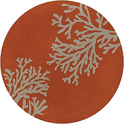 Hand-hooked Leighton Indoor/ Outdoor Rug (8' Round)