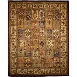 Handmade Classic Bakhtieri Multicolored Wool Rug (6' Square)