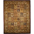 Safavieh Handmade Classic Bakhtieri Multicolored Wool Rug (8' Square)