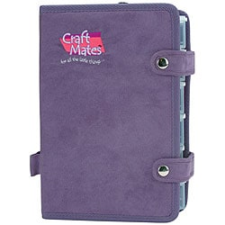 Craft Mates Ezy Snappin' Petite Purple Ultrasuede Double Organizer