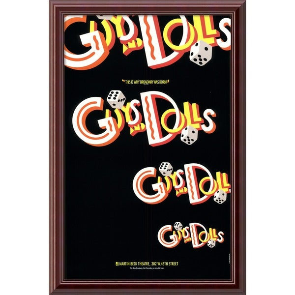 'Guys and Dolls' Vintage Framed Art Print