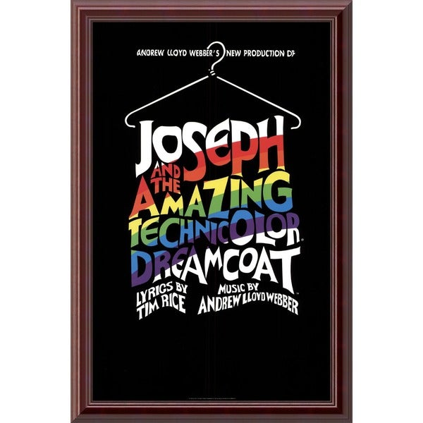 'Joseph and the Amazing Technicolor Dreamcoat' Framed Art Print