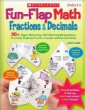Fun-Flap Math: Fractions & Decimals: Grades 3-5 (Paperback)