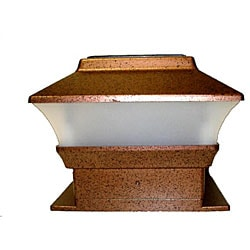 Solar Powered Copper Fence Mount Lights (Set of 12)