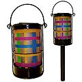Color Stripe Solar Powered Lanterns (Set of 6)