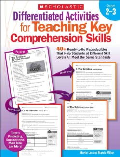 Differentiated Activities for Teaching Key Comprehension Skills, Grades 2-3: 40+ Ready-to-Go Reproducibles That H... (Paperback)