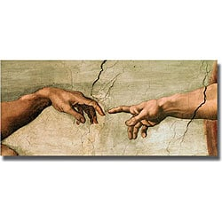 Michelangelo 'Creation (Detail)' Unframed Canvas Art