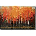 Peter Colbert 'Birch Shoreline' Unframed Canvas Art