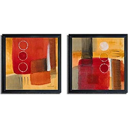 Lanie Loreth 'City Night Lights I and II' Framed Canvas 2-piece Set