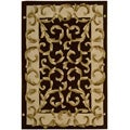 Nourison Hand-tufted Versaille Palace Chocolate Rug (3'6 x 5'6)