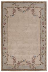 Nourison Hand-tufted Lisette Beige Wool Rug (8' x 10'6)