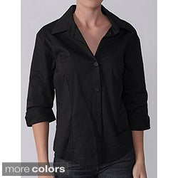 Journee Collection Women's 3/4 Sleeve Blouse