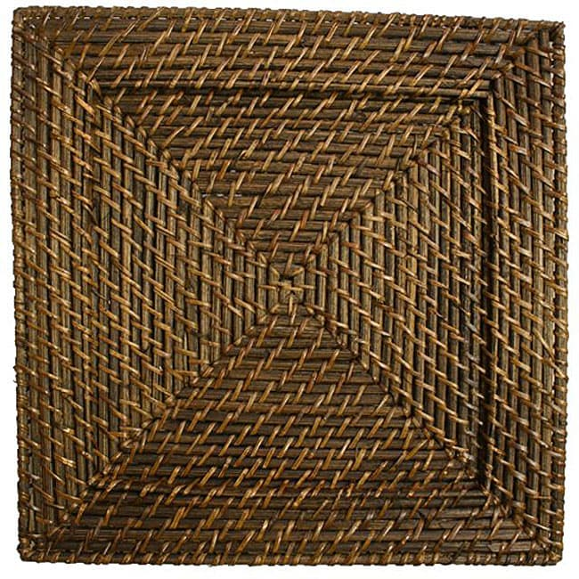 Chargeit! by Jay Square 13-inch Rattan Plates (Set of 4) at Sears.com