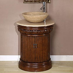 Silkroad Exclusive Bellevue 24-inch Vessel Sink Bathroom Vanity