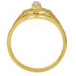 Simon Frank 14k Gold Overlay Cubic Zirconia Spanish Lace Heart Ring