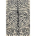 Hand-knotted Mandara Animal Pattern Area Rug (7'9 x 10'6)