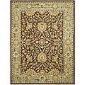 Safavieh Handmade Kerman Chocolate/ Gold Wool Rug (5' x 8')