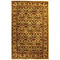 Handmade Treasured Gold Wool Rug (5' x 8')