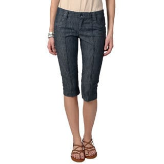 Ci Sono by Adi Juniors Dark Denim Capri Pants