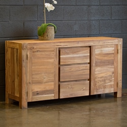 Reclaimed Teak Simple Buffet (India)