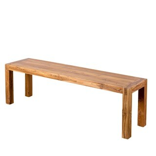 Reclaimed Teak Simple Bench (India)