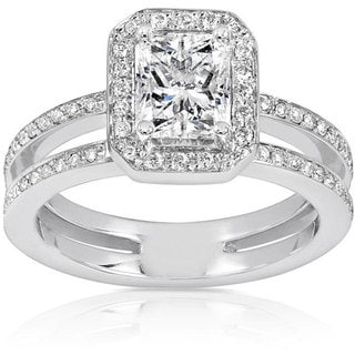 Annello 14k Gold 1 1/3ct TDW Diamond Engagement Ring (H-I, I1-I2)