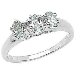 Malaika Sterling Silver Aquamarine Ring