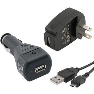INSTEN USB Car/ Wall Charger/ Micro USB Data Cable