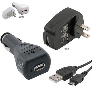 USB Car/ Wall Charger/ Micro USB Data Cable