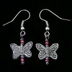 Playful Butterfly Earrings (China)