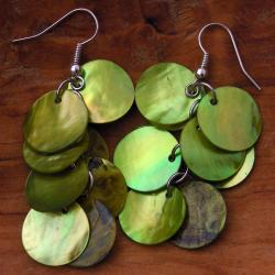 Mother of Pearl Cluster Earrings (China)