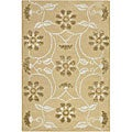 Hand-tufted Mandara Tan New Zealand Wool Rug (7'9 Round)