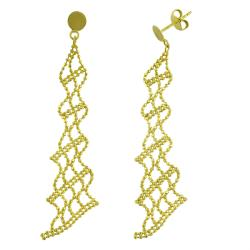 Fremada 14k Yellow Gold Beaded Dangle Earrings