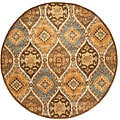 Hand-tufted Ashton Brown Wool Rug (6' Round)