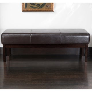 Christopher Knight Home Melrose Brown Bonded Leather Ottoman Bench