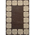 Hand-tufted Box Flooring Wool Rug (8' x 11')